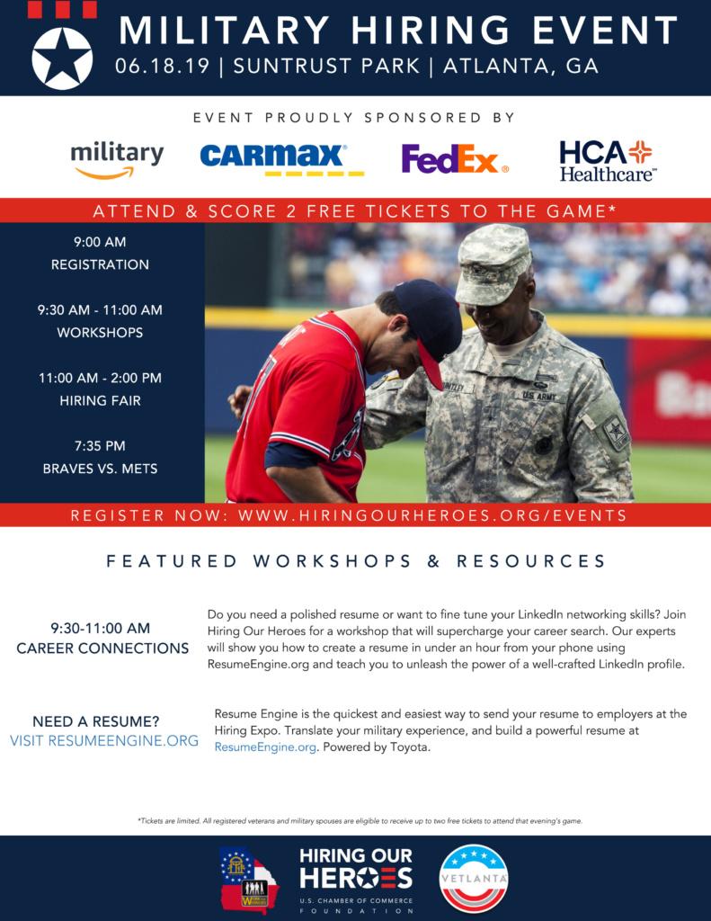 Military Veteran Job Fair and Event at Suntrust Park June